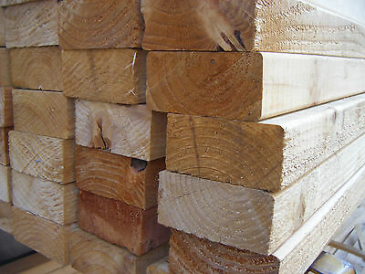 SOFTWOOD UNGRADED  EASED EDGE TIMBER EX 50mm X 75mm (3X2) VARIOUS LENGTHS • 4.44£