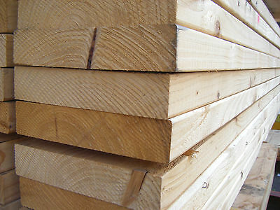 £19.44 • Buy SOFTWOOD C16 KILN DRIED EASED EDGE JOISTS EX 50mm X 200mm (8X2) VARIOUS LENGTHS