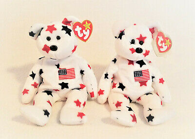 $299.95 • Buy 1998 Original  Glory  Beanie Baby, USA Bear, Forth Of July, Red, White, Blue