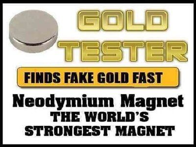 Neodymium Rare Earth Magnet For Testing Scrap Gold, -10mm Great Kit VERY STRONG • 4.89£