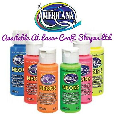 DecoArt Neon Acrylic Craft Paint 2oz Blue Orange Yellow Green Pink Red • 5.99£