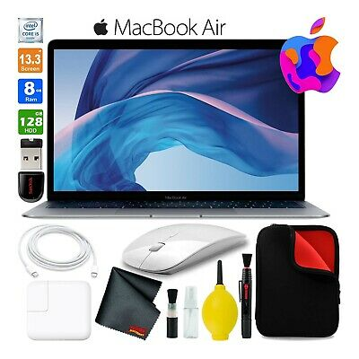 $1193.86 • Buy Apple MacBook Air 13.3  Laptop 128GB (2018, Gray) (MRE82LLA) Traveling Bundle
