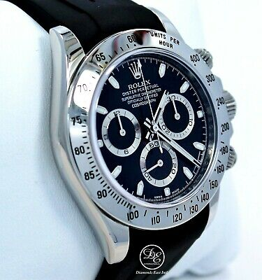 $ CDN30392.05 • Buy Rolex Daytona 116520 Cosmograph Steel Oyster & Rubber B Black Dial Papers MINT