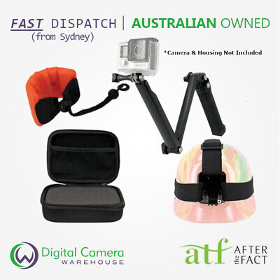 AU113.85 • Buy GoPro HERO & Session Compatible Mounts - 3-Way, Headstrap, Floating Strap & More