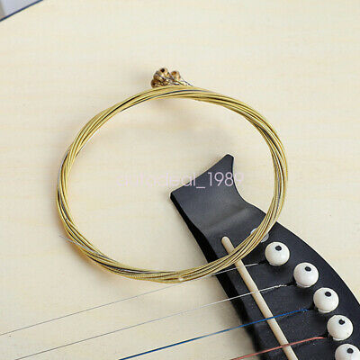 $ CDN8.07 • Buy Guitar Strings Soft Touch String For Classic Acoustic Guitar Brass 6Pcs/set