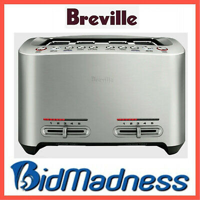 AU139 • Buy BREVILLE BTA845BSS The SMART TOAST 4 SLICE EXTRA WIDE TOASTER STAINLESS STEEL