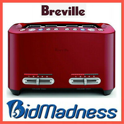 AU139 • Buy BREVILLE BTA845CRN The SMART TOAST 4 SLICE EXTRA WIDE TOASTER CRANBERRY