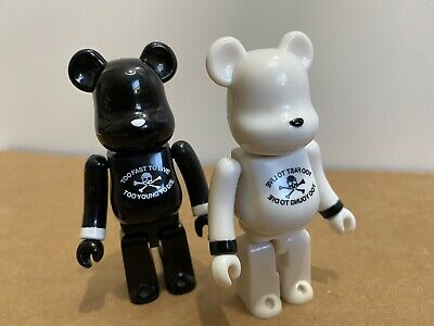 $140 • Buy Medicom Bearbrick 100% SERIES 9 ARTIST MASTERMIND Set SECRET White Black BAPE