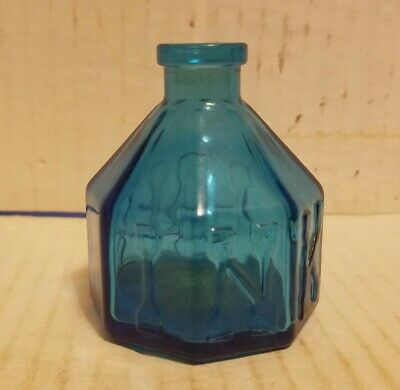 $14.95 • Buy Vintage Reproduction Blue Glass Ink Well Bottle Wheaton, New Jersey