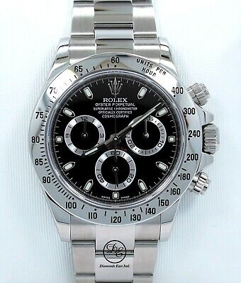 $ CDN29803.19 • Buy Rolex Daytona 116520 Cosmograph New Style Steel Oyster Black Dial Box Paper MINT