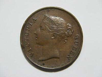 $3.25 • Buy India Straits Settlements 1862 One Cent Queen Victoria Low Grade World Coin🌈⭐🌈
