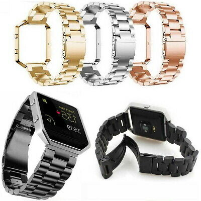 AU13.99 • Buy Replacement For Fitbit Blaze Stainless Steel Watch Band Wrist Strap Metal Frame