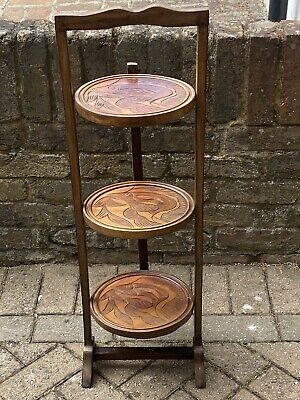 £55 • Buy Lovely Vintage 3 Tier Folding Wooden Cake / Plant Stand Display