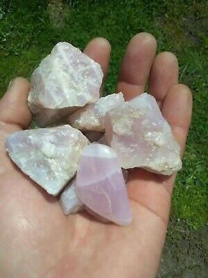 $12.99 • Buy Natural Lavender Rose Quartz Hand Dug Northern California! + Free-form Cabochon