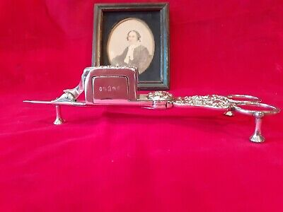 Victorian Silver Plated Candle Georgian Style 19th Century Candle Snuffer Cutter • 33£