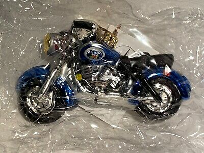 $29.99 • Buy Christopher Radko EASY RIDER Victory Motorcycle Blue Ornament Fathers Day Sealed