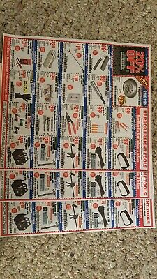 $2.99 • Buy Harbor Freight 20% Off Super Coupon Home Depot Lowe's Exp 7/17/20! 5 SHEETS!