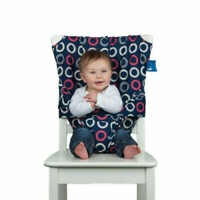 Totseat Washable Portable Highchair Baby Toddler Seat With Harness • 20£