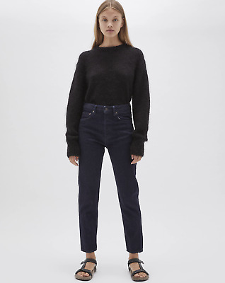 AU220 • Buy Bassike Classic Crop Jean Dark Rinse Wash 26 RRP $360 CURRENT SEASON