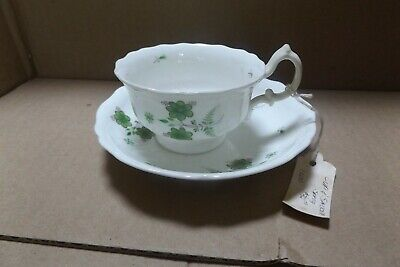 $4.99 • Buy Antique Hand Painted Softpaste Sprig Decorated Porcelain Tea Cup Saucer