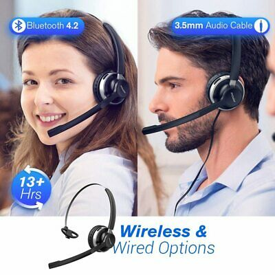 Mpow Stereo Wireless Headset With Microphone PC Skype Livechat Wired Headphones • 24.09£