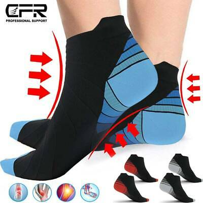 Compression Ankle Support Socks Plantar Fasciitis Heel Foot Arch Pain Relief DSM • 5.89£