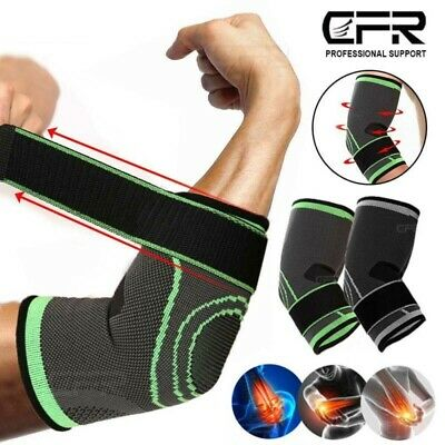 Elbow Support Sleeve Arm Splint Tennis Golfers Gym Tendonitis Joints Pain Relief • 6.99£