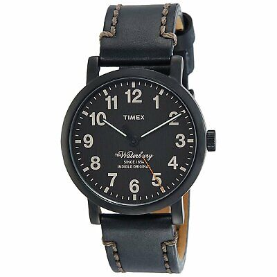 $84.09 • Buy Timex TW2P59000 Waterbury 40MM Men's Black Leather Watch