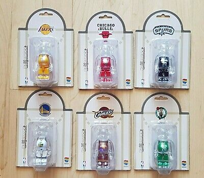 $298 • Buy Medicom 100% Bearbrick ~ NBA X Milk Magazine Be@rbrick Full Set 6pcs