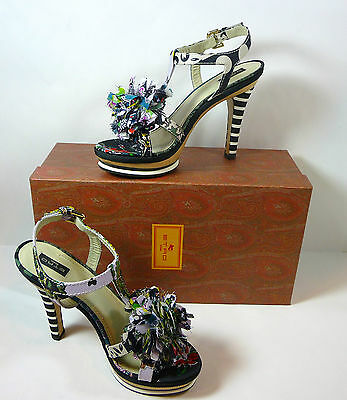 $197.99 • Buy Etro NIB Platform Sandals Colorful Fabric & Wood Size 10 40 B Retail $980