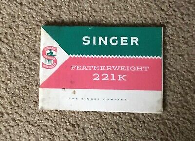 $14.99 • Buy Vintage Singer Featherweight Sewing Machine 221k Manuel Booklet Instructions