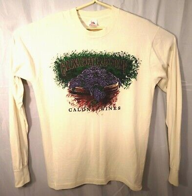 $ CDN28.90 • Buy Vintage Single Stitch 1994 Calona Vineyards L/S Graphic Shirt Large Made In USA