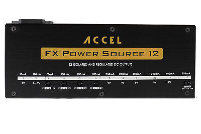 $ CDN274.92 • Buy Accel FX Power Source 12 Pedal Board Power Supply With 12 Isolated Outputs