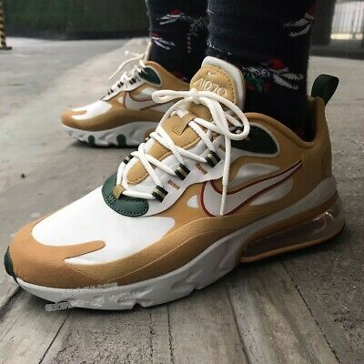 $100 • Buy Nike Air Max 270 REACT GOLD CLUB Mens Running Sneakers AO4971 700 ALL SIZE $150