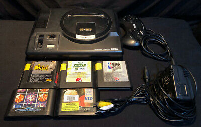 AU119 • Buy Sega Mega Drive Console Awesome Bundle With 5 Games!  TESTED AND WORKING