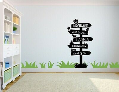 Personalised Narnia Disney Sign Post Wall Art Sticker, Childrens Bedroom -  • 13£