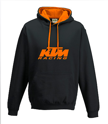 KTM RACING Motorcycle Bike LOGO Black & Orange HOODIE / Top / Clothing Xmas Gift • 18.99£
