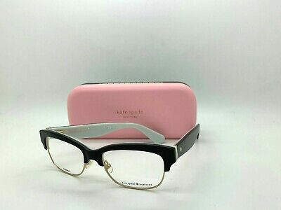 AU77.70 • Buy New Kate Spade New York  Eyeglasses Shantal 0qop Black /white 52-17-135mm