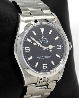 $ CDN9366.77 • Buy Rolex Explorer I 114270 Steel Oyster Black 36mm Watch Box Papers FULLY SERVICED