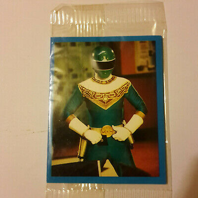 Kelloggs  Power Ranger Card Green X 1 Unopened • 2.50£
