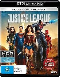 AU16.95 • Buy Justice League 4K UHD & Blu-Ray New & Sealed