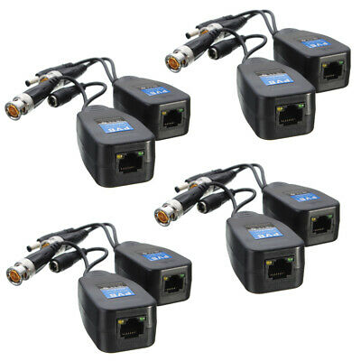 AU28.90 • Buy 8 Pcs CCTV Coax BNC Video Data Power Balun Transceiver To CAT5e 6 RJ45 Connector