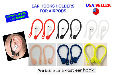$ CDN7.22 • Buy AirPods Ear Hooks For Airpods 1,2 & Pro /TPU+Silicone Flexible/USA Seller
