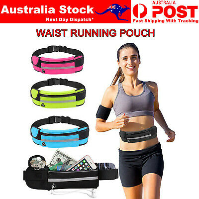 AU9.39 • Buy Running Bum Bag Waist Zip Pouch Fanny Pack Running Jogging Travel Belt Sport Bag