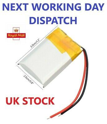 £5.95 • Buy 3.7V 300mAh Lithium  Polymer Battery 602030 For Dash Cam. Watch, PSP LED Lamp RC