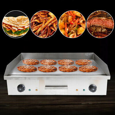 $230.05 • Buy 4.4kW Commercial Electric Griddle & Grill Hot Plate 73cm Stainless Steel BBQ