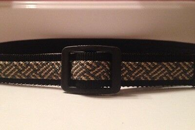 $5.99 • Buy Bates Unisex Adult Child Slider Belt Gray & Tan Herringbone Nylon Canvas Size 30