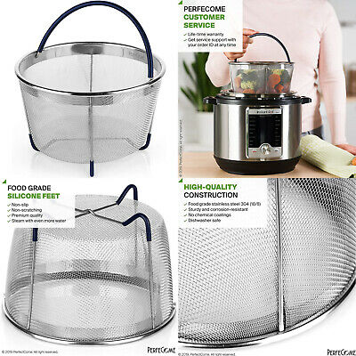 $20 • Buy Steamer Basket 6 And 8 Quart Pressure Cooker Fits Instant Pot Stainless Steel