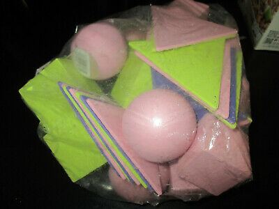 $9 • Buy LOT Of PAINTED WOODEN BALLS BOXES & TRIANGLES For CRAFTS