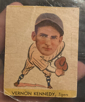 $10 • Buy 1938 Goudey Heads Up #256 Vernon Kennedy Tigers